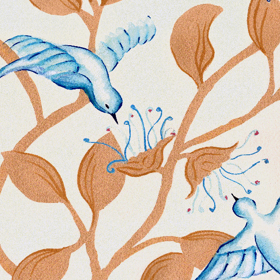 Joyful Birds Textile Design